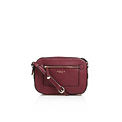 Carvela - Red 'Mia Zip X' Body Bag Handbag With Shoulder Straps