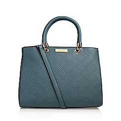 Carvela - Blue 'Darla' Cross Stitch Tote Handbag With Shoulder Straps