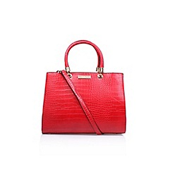 Carvela - Red 'Darla Croc' tote handbag with shoulder strap