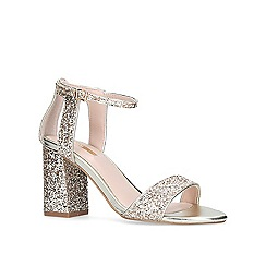 Carvela - Gold 'Gigi' mid heel sandals