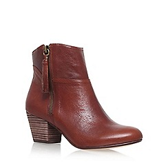 Nine West - Brown 'Hannigan' high heel ankle boots