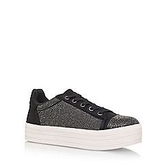 Carvela - Black 'Leonie' Flat Lace Up Sneakers