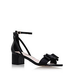 Carvela - Black 'Gertrude' mid heel sandals