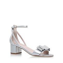 Carvela - Silver 'Gertrude' mid heel sandals