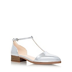 Nine West - Silver 'Nanda3' low heel sandals