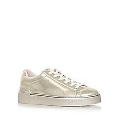 Nine West - Gold 'Palyla3' flat lace up sneakers