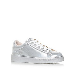 Nine West - Silver 'Palyla3' flat lace up sneakers