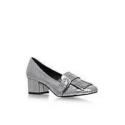 Carvela - Grey 'Agatha' mid heel slip on loafers