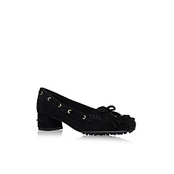Nine West - Black 'Westby' low heel court shoes