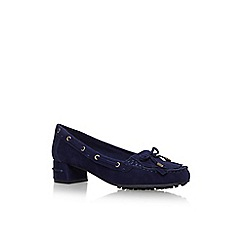 Nine West - Blue 'Westby' low heel court shoes