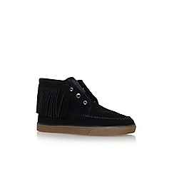 Nine West - Black 'Ballico' flat lace up sneakers
