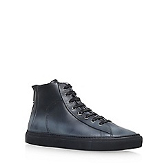 KG Kurt Geiger - Black 'Clarence' Flat Lace Up Sneakers