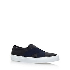 KG Kurt Geiger - Black 'Vega' flat slip on sneakers
