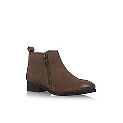Miss KG - Brown 'Spitfire' flat leather ankle boot