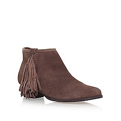 Miss KG - Brown 'Sassy' flat ankle boots