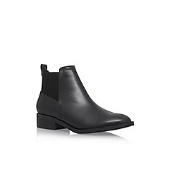 Miss KG - Black 'Tion' Flat Slip On Ankle Boot