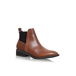 Miss KG - Brown 'Tion' Flat Ankle Boots