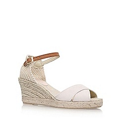 Carvela - Natural 'Scalt' high heel wedge sandals