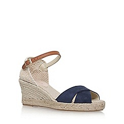 Carvela - Blue 'Scalt' high heel wedge sandals
