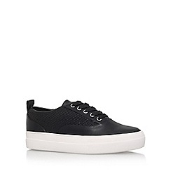 Carvela - Black 'Jetty' Flat Lace Up Sneakers
