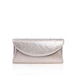 Carvela - Silver 'Delilah Jewel' Clutch Handbag
