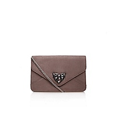 Carvela - Grey 'Dessi' Clutch Bag With Shoulder Chain