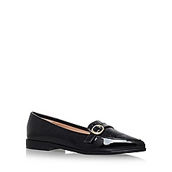 Miss KG - Black 'Neeve' Flat Slip On Loafers