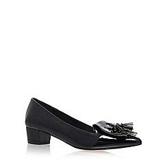 Miss KG - Black 'Anita' Mid Heel Slip On Loafers