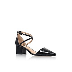 Miss KG - Black 'Ava' low heel pointed court shoe
