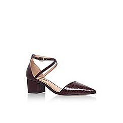 Miss KG - Wine 'Ava' low heel pointed court shoe