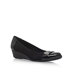Anne Klein - Black 'Carly2' mid heel pumps