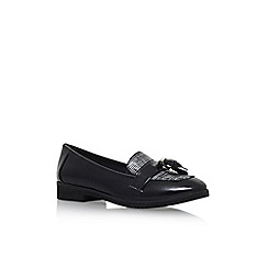 Anne Klein - Black 'Haylen3' Flat Slip On Tassle Loafer