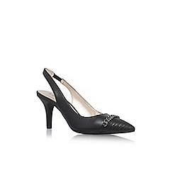 Anne Klein - Black 'Yavari' high heel slingback sandals