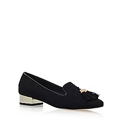 Miss KG - Black 'Neville' Low Heel Slip On Loafers