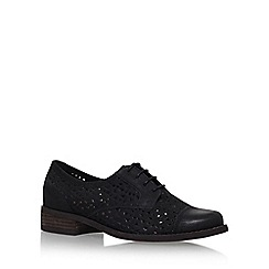 Miss KG - Black 'Marshall' Flat Lace Up Shoes