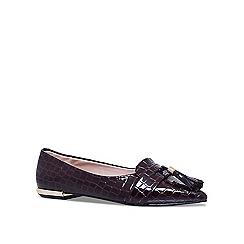 Miss KG - Wine 'Nikki' flat ballerina shoes