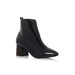 Miss KG - Black 'Stone' mid heel ankle boot