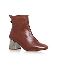 KG Kurt Geiger - Brown 'Snoopy' High Heel Ankle Boots