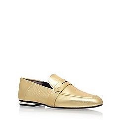 KG Kurt Geiger - Gold 'Kipper' low heel loafers