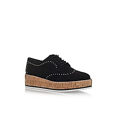 KG Kurt Geiger - Black 'Kazam' flat lace up shoes