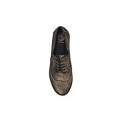KG Kurt Geiger - Gold 'Kazam' flat lace up shoes