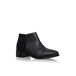 KG Kurt Geiger - Black 'Shimmy' low heel ankle boots