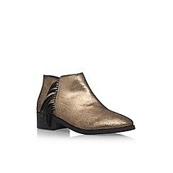KG Kurt Geiger - Gold 'Shimmy' Flat Ankle Boots