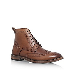 KG Kurt Geiger - Brown Boston Flat Lace Up Boots