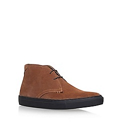 KG Kurt Geiger - Brown 'Glasgow' Flat Lace Up Sneaker