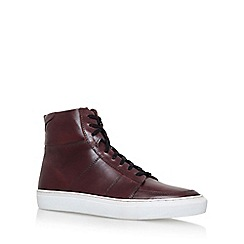 KG Kurt Geiger - Red 'Glastonbury' Flat Lace Up Sneaker