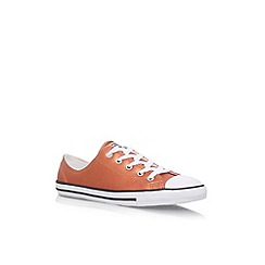 Converse - Gold CT Dainty Met Lea LW' flat lace up sneakers