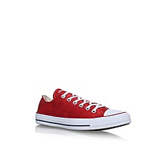 Converse - Red 'CT Sheen Wash LW' flat lace up sneakers