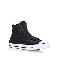 Converse - Black 'Sting Ray Lea Hi' flat lace up sneakers