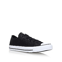 Converse - Black 'Sting Ray Lea' flat lace up sneakers